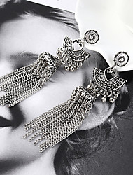 cheap -Women's Drop Earrings Earrings Dangle Earrings Tassel Ball Vintage European Trendy Fashion Earrings Jewelry Gold / Silver For Party Gift Daily Street Bar 1 Pair