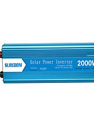 Недорогие -Suredom 2000 Вт солнечная система питания чисто синусоидальный инвертор постоянного тока автомобильный инвертор для дома высокой частоты и мощности инвертор постоянного тока dc12v / 24v до ac110v /