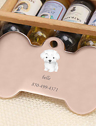 cheap -Personalized Customized Bichon Frise Dog Tags Classic Gift Daily 1pcs Gold Silver Rose Gold