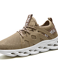 cheap -Men's Comfort Shoes PU Summer Athletic Shoes Walking Shoes Black / Brown / White