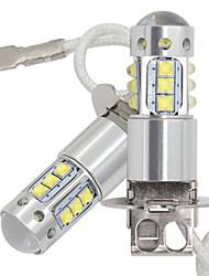 Недорогие -2 шт. Автомобиль h3 светодиодные противотуманные фары drl 16smd из светодиодов с кри чипс противотуманные фары 80 Вт 16led задние фонари drl противотуманные фары 12-24 В