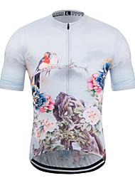 Недорогие -MUBODO Цветочные ботанический Жен. С короткими рукавами Велокофты - Белый Велоспорт Джерси Верхняя часть Дышащий Влагоотводящие Быстровысыхающий Виды спорта Терилен Лайкра / Слабоэластичная