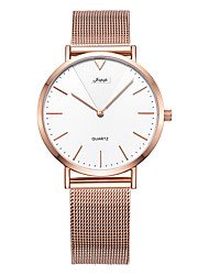 cheap -Couple's Steel Band Watches Japanese Japanese Quartz Gold 30 m Water Resistant / Waterproof Casual Watch Analog Casual Fashion - Gold / White Golden Gold / Pink