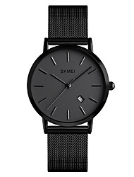 cheap -SKMEI Men's Steel Band Watches Quartz Stainless Steel Black / Gold / Rose Gold 30 m Water Resistant / Waterproof Casual Watch Day Date Analog Fashion Minimalist - Black Rose Gold Gold