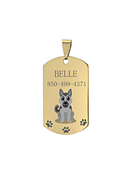 cheap -Personalized Customized German Shepherd Dog Dog Tags Classic Gift 1pcs Gold Black Silver / Laser Engraving