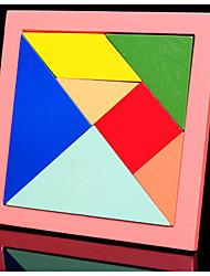 Недорогие -Китайская геометрическая головоломка Натуральное дерево Дети Летние развлечения с детьми Ретро Мальчики и девочки