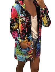 cheap -Women's Casual / Active Hoodie Jacket - Rainbow Black S