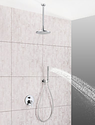 cheap -Shower Faucet / Bathroom Sink Faucet - Contemporary Chrome Ceiling Mounted Ceramic Valve Bath Shower Mixer Taps