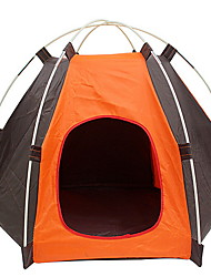 cheap -Pet Tent Outdoor Lightweight Windproof Rain Waterproof Camping Tent 2000-3000 mm for Camping / Hiking / Caving Oxford Cloth 50*40*50 cm