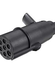 cheap -Tirol 7 Pin 24V Trailer Plug N Type Wiring Adapter Connector Towing Bar Socket Plug