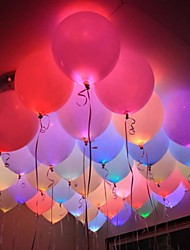 cheap -12pcs LED Balloon Light Switch Bullets Colorful Bulbs Paper Lanterns Lights Holiday Lights