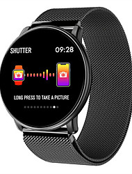 cheap -Smartwatch Digital Modern Style Sporty Silicone 30 m Water Resistant / Waterproof Heart Rate Monitor Bluetooth Digital Casual Outdoor - Black Black / Blue Black / Gray
