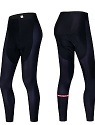 cheap -MAKOSHARK Men's Cycling Tights Bike Pants Bottoms Breathable Moisture Wicking Quick Dry Sports Solid Color Polyester Lycra Black / Black / White Mountain Bike MTB Road Bike Cycling Clothing Apparel