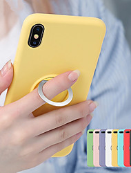 cheap -Magnetic Ring Soft TPU Case for iphone XS Max XR XS X 8 Plus 8 7 Plus 7 6 Plus 6 Liquid Silicone Shockproof Holder Cover