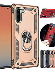 cheap -Luxury Armor Soft Shockproof Case For Samsung Galaxy Note 10 Note 10 Pro Silicone TPU Bumper Case For Samsung Galaxy Note 9 Note 8 Car Metal Magnetic Finger Ring Cover