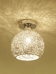 cheap -1-Light Aluminum Ceiling Lamp Globe Flush Mount Ceiling Lights Ambient Light Electroplated Metal Ceiling Light for Porch Corridor