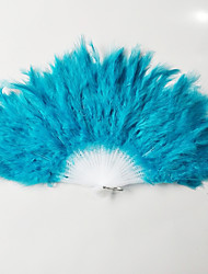 cheap -Hand Fans Feather Split Joint Wedding