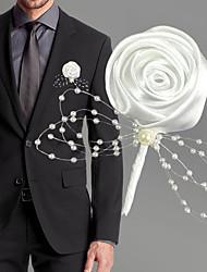 Недорогие -Свадебные цветы Бутоньерки Свадьба / Свадебные прием Шёлковая ткань рипсового переплетения / Бусины 0-10 cm