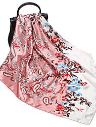 Недорогие -Жен. Симпатичные Стиль / Рождество Квадратный платок / Хиджаб Цветочный принт / С принтом