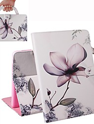 cheap -Case For iPad Air / iPad 4/3/2 / iPad (2018) Wallet / Card Holder / Shockproof Full Body Cases Magnolia PU Leather Case For iPad Air 2 / iPad (2017) / iPad Pro 9.7