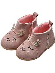 cheap -Girls' Comfort Canvas Boots Little Kids(4-7ys) Gray / Red / Pink Winter