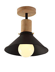 cheap -1-Light Modern Simple Ceiling Light Flush Mount Lights Ambient Light Painted Finishes Wood Metal Pendant Lamp for Corridor Porch