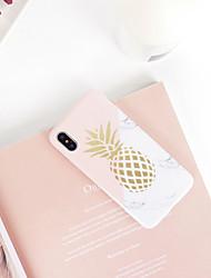 Недорогие -Кейс для Назначение Apple iPhone XS / iPhone XR / iPhone XS Max со стендом / Ультратонкий / С узором Кейс на заднюю панель Продукты питания / Мультипликация ТПУ