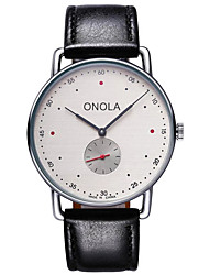 cheap -Men's Dress Watch Quartz Stylish Leather 30 m Water Resistant / Waterproof Creative New Design Analog Fashion - Red Blue Gray Two Years Battery Life