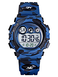 cheap -SKMEI Boys' Digital Watch Digital Silicone Blue / Green / Navy 50 m Water Resistant / Waterproof Alarm Clock Stopwatch Digital New Arrival Fashion - Green Blue Dark Blue