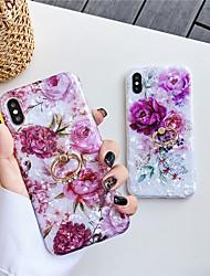 Недорогие -чехол для яблока iphone xs / iphone xr / iphone xs max с подставкой / выкройка задней обложки цветочное тпу для iphone 6 6 плюс 6s 6s плюс 7 8 7 плюс 8 плюс x xs