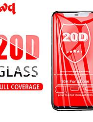 abordables -Verre de protection 20d sur le couvercle complet en verre pour iphone xr x xs pour iphone xs max 6 6s 7 8 plus le protecteur d'écran en verre trempé
