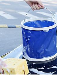 cheap -13L Wash car folding bucket Easy To Carry Mist Deep Blue