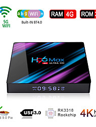 cheap -H96 Max Smart Android 9.0 TV Box RK3318 Quad Core 64 Bit UHD 4K VP9 H.265 4GB / 64GB 2.4G / 5G WiFi BT4.0 HD Media Player TV Box