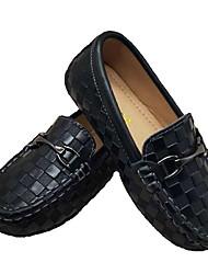 Недорогие -Мальчики Удобная обувь Кожа На плокой подошве Маленькие дети (4-7 лет) Белый / Черный Лето