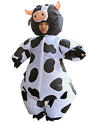 cheap -Cowboy Cosplay Costume Inflatable Costume Kid's Boys' Halloween Halloween Festival / Holiday 100% Polyester Black Carnival Costumes / Air Blower / Leotard / Onesie / Leotard / Onesie / Air Blower