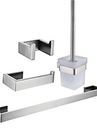 cheap -Toilet Paper Holder / Towel Bar / Bathroom Accessory Set Creative / New Design Traditional / Contemporary Stainless Steel / Iron / Metal / Stainless Steel 4pcs Wall Mounted