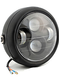 cheap -Black High Power Projector LED Headlight Lamp Refit Accessories for General Motorcycle