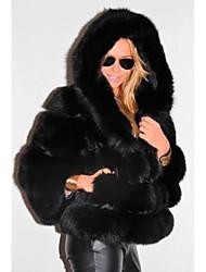 cheap -Long Sleeve Coats / Jackets Faux Fur Wedding Women's Wrap With Cap / Fur