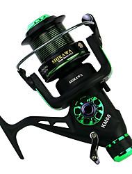 cheap -Fishing Reel Spinning Reel 5.2:1 Gear Ratio+14 Ball Bearings Hand Orientation Exchangable Sea Fishing / Spinning / Carp Fishing