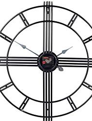 Недорогие -Современный современный Пластиковые & Металл Круглый В помещении Другие аккумуляторные батареи Украшение Настенные часы черный Нет