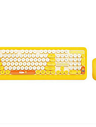 cheap -LITBest Wireless Cartoon Keyboard and Mouse for Youngs Punk Style 2.4GHz 2 Ps a Combos