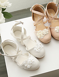 cheap -Girls' Heels Flower Girl Shoes Princess Shoes Halloween Satin Dress Shoes Little Kids(4-7ys) Big Kids(7years +) Party & Evening Walking Shoes Bowknot Champagne Ivory Spring Summer