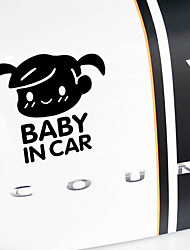 Недорогие -ребенок в машине буквы девушка типа знак безопасности назад автомобиль заднее стекло наклейка виниловая наклейка
