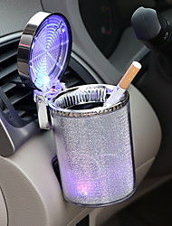 cheap -Car Colorful Ashtray with LED Lights Car Ashtray Tuyere Multifunctional Cup Holder Tuyere Ashtray Flame Retardant