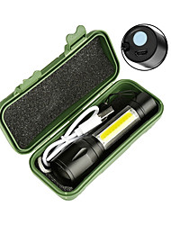 cheap -LED Flashlights / Torch Handheld Flashlights / Torch Flashlight Body 2300 lm LED Emitters 4 Mode with Battery and USB Cable Portable Windproof Cool Easy Carrying Wearproof Camping / Hiking / Caving