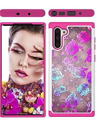 cheap -Case For Samsung Galaxy Note 9 / Galaxy Note 10 / Galaxy Note 10 Plus Shockproof Back Cover Flower TPU / PC