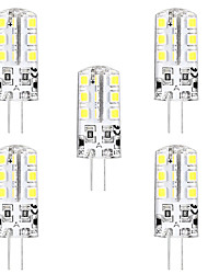 cheap -5pcs 3 W LED Bi-pin Lights 3000 lm G4 T 24 LED Beads SMD 2835 Warm White White 12 V