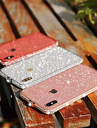cheap -Bling Bling Case For Apple iPhone SE2020 iPhone XR Mobile Phone Case Rhinestone Case Glitter Shine Metal Protective Phone Case for iPhone XS Max iPhone 8plus 7 6splus 6s
