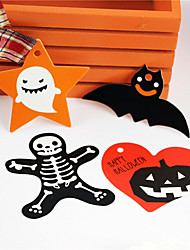 cheap -50pcs Halloween Paper Labels Festive Party Decorations Tags Halloween Supplies