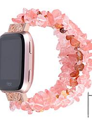 Недорогие -ремешок для часов ремешок для часов для fitbit versa / fitbit versa lite fitbit ювелирный дизайн керамический ремешок на запястье